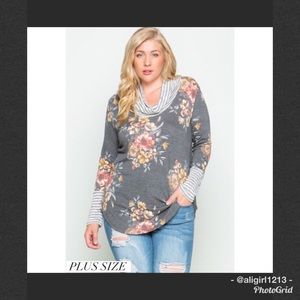 Tops - Plus Size Floral Tunic